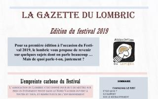 La gazette du Lombric, édition 2019